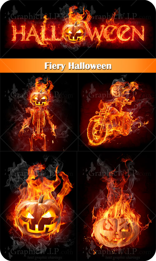Fiery Halloween - Stock Photos
