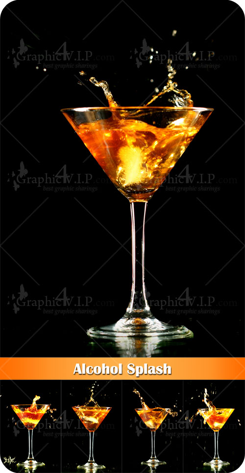 Alcohol Splash - Stock Photos