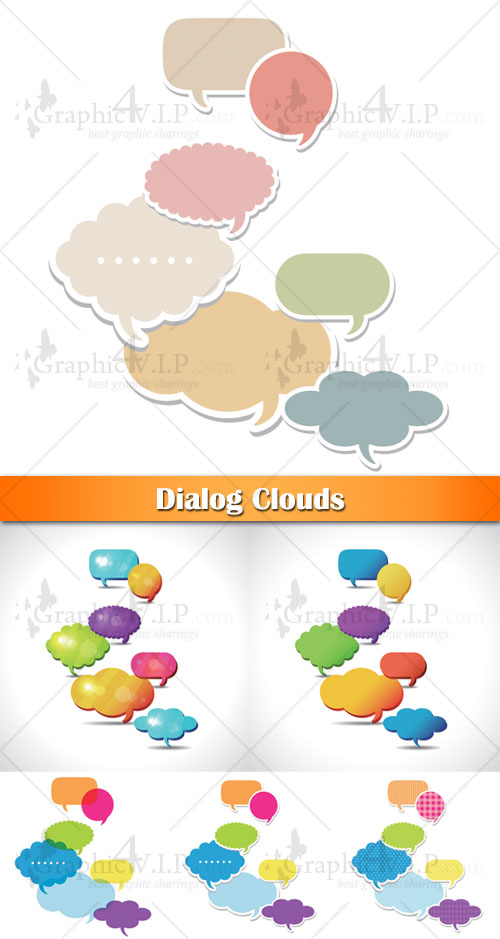 Dialog Clouds - Stock Vectors
