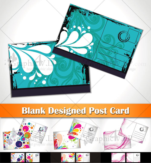 Blank Designed Post Card - Stock Vectors