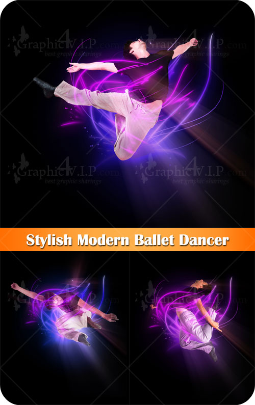 Stylish Modern Ballet Dancer - Stock Photos