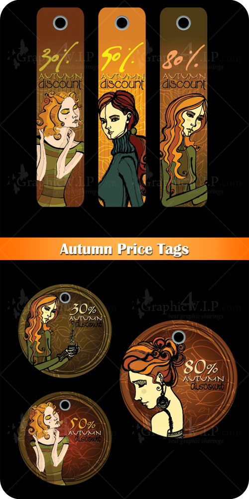 Autumn Price Tags - Stock Vectors