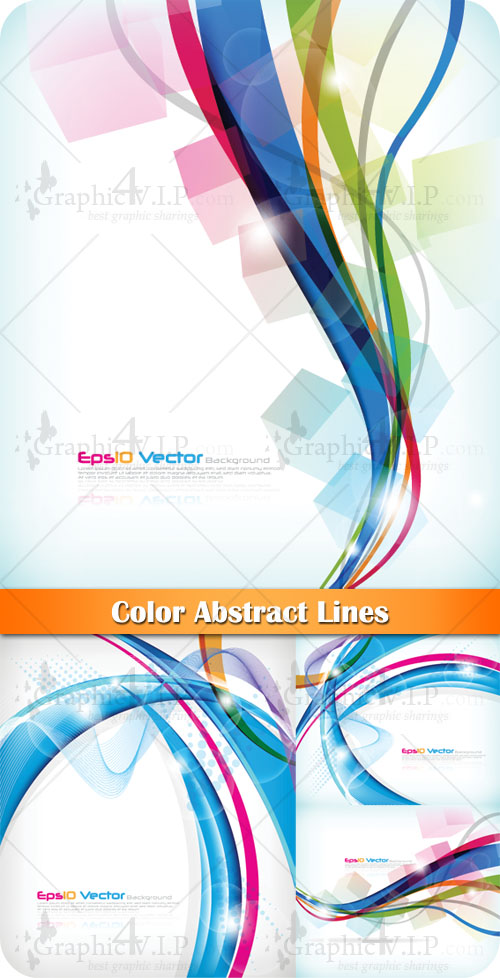 Color Abstract Lines - Stock Vectors