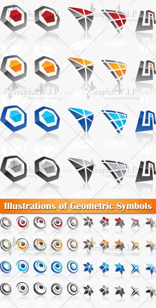 Illustrations of Geometric Symbols - Stock Vectors