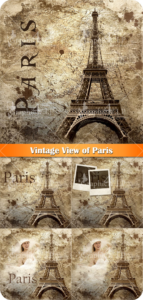 Vintage View of Paris - Stock Images