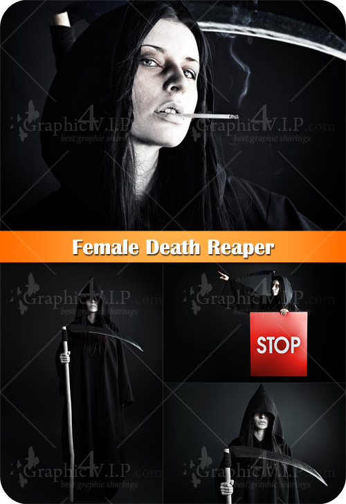 Female Death Reaper - Stock Photos