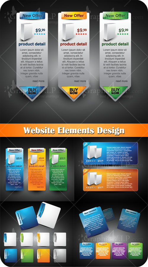 Website Elements Design - Stock Vectors