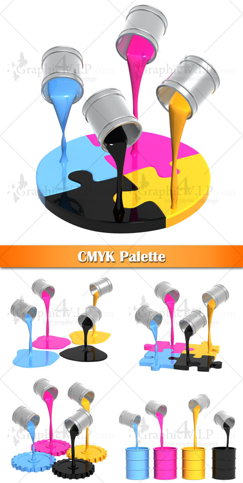 CMYK Palette - Stock Images
