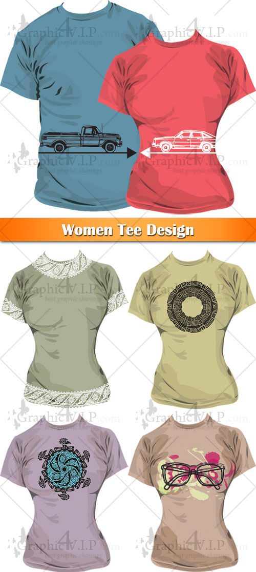 Women Tee Design - Stock Vectors