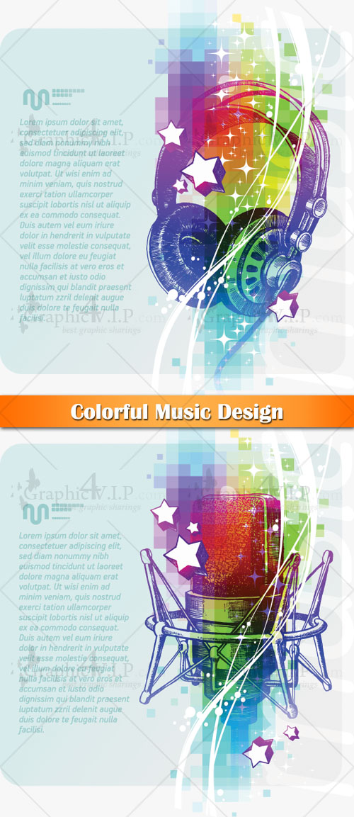 Colorful Music Design - Stock Vectors