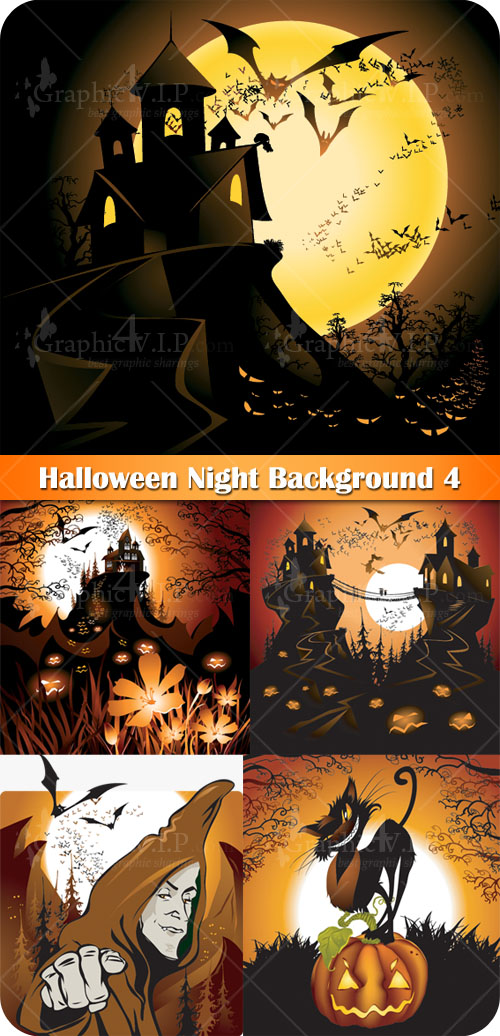 Halloween Night Background 4 - Stock Vectors