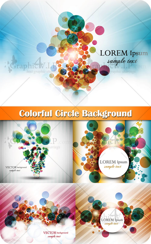 Colorful Circle Background - Stock Vectors