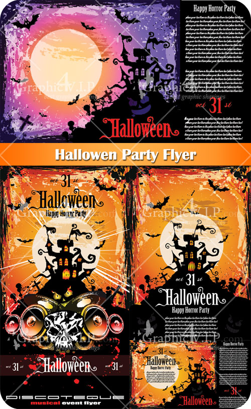Hallowen Party Flyer - Stock Vectors
