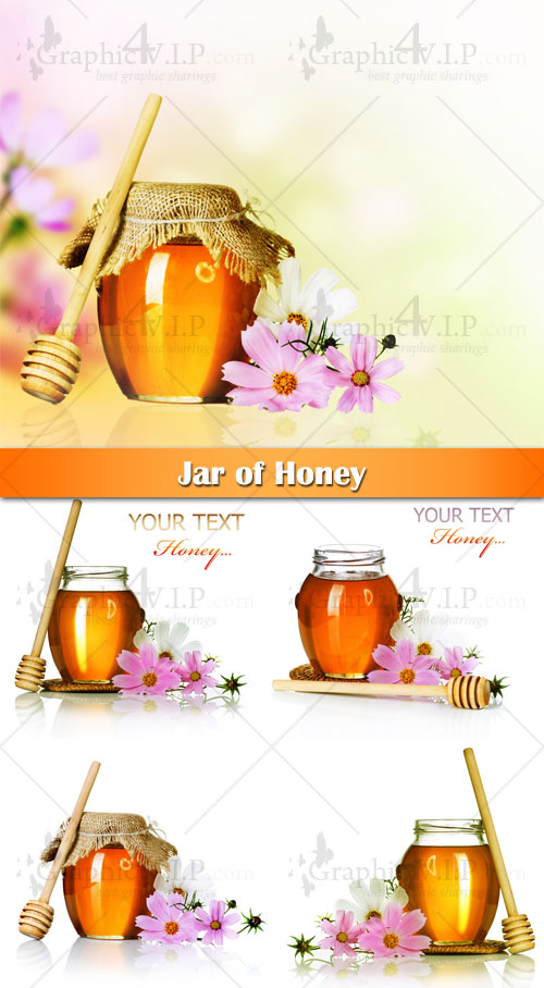 Jar of Honey - Stock Photos