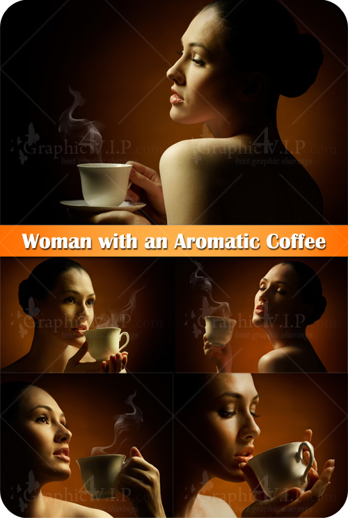 Woman with an Aromatic Coffee - Stock Photos