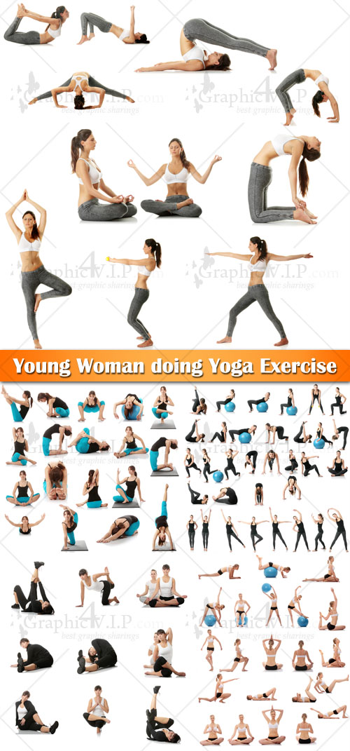 Young Woman doing Yoga Exercise - Stock Photos
