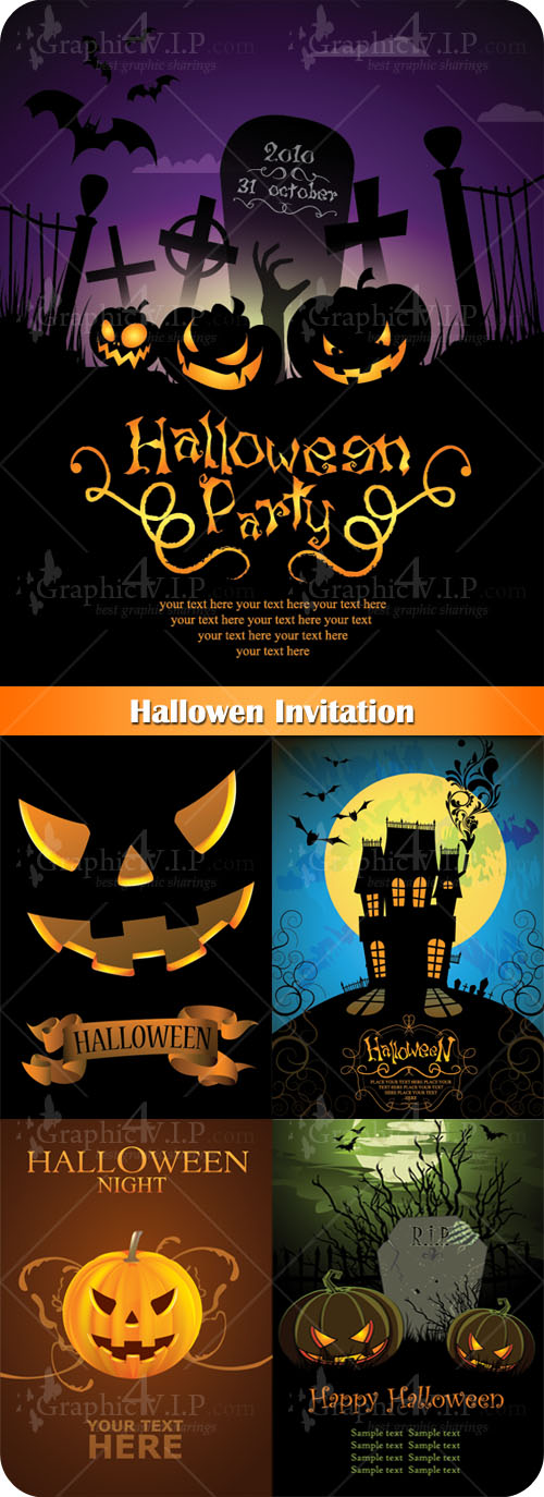 Halloween Invitation - Stock Vectors