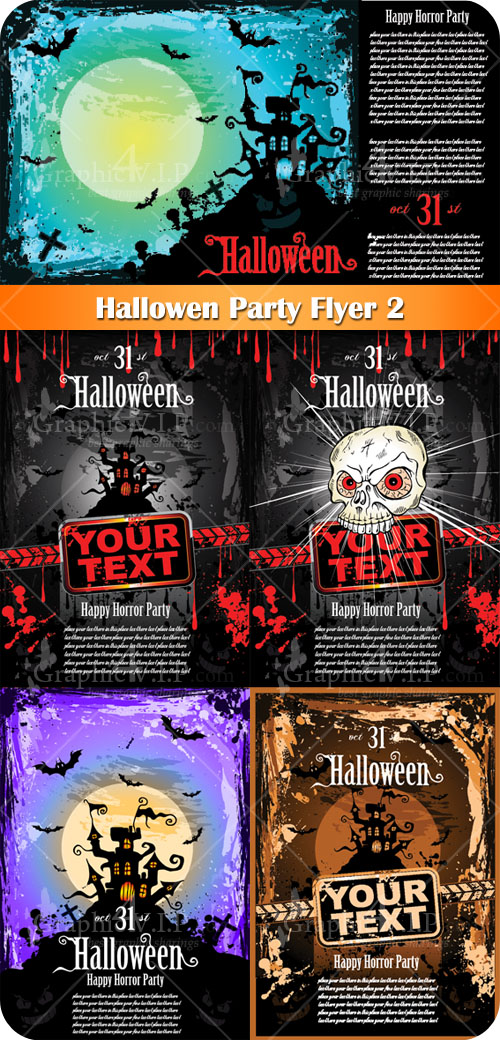 Halloween Party Flyer 2 - Stock Vectors