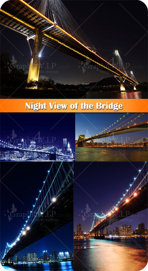 Night View of the Bridge - Stock Photos