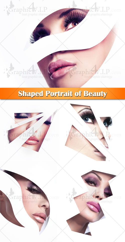 Shaped Portrait of Beauty - Stock Photos