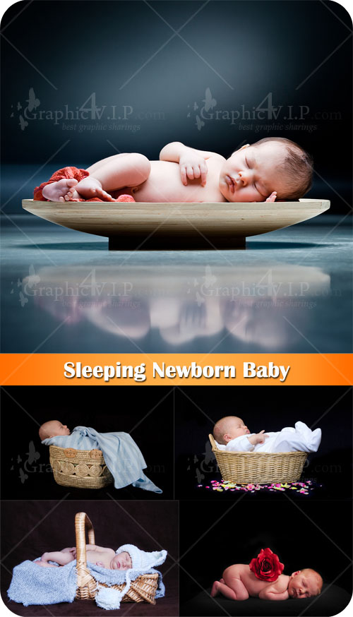 Sleeping Newborn Baby - Stock Photos