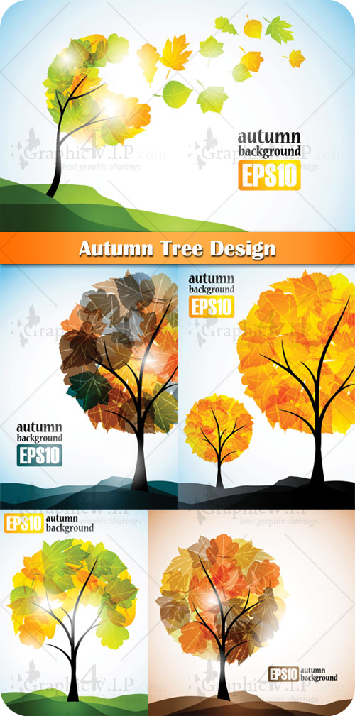Autumn Tree Design - Stock Vectors