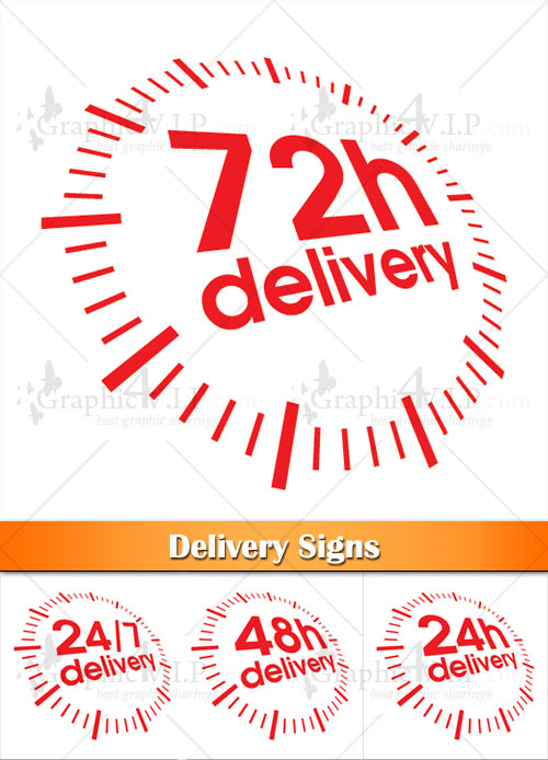Delivery Signs - Stock Vectors