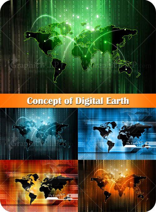 Concept of Digital Earth - Stock Photos