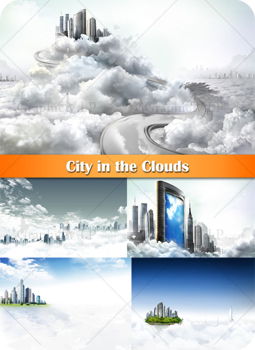 City in the Clouds - Stock Photos