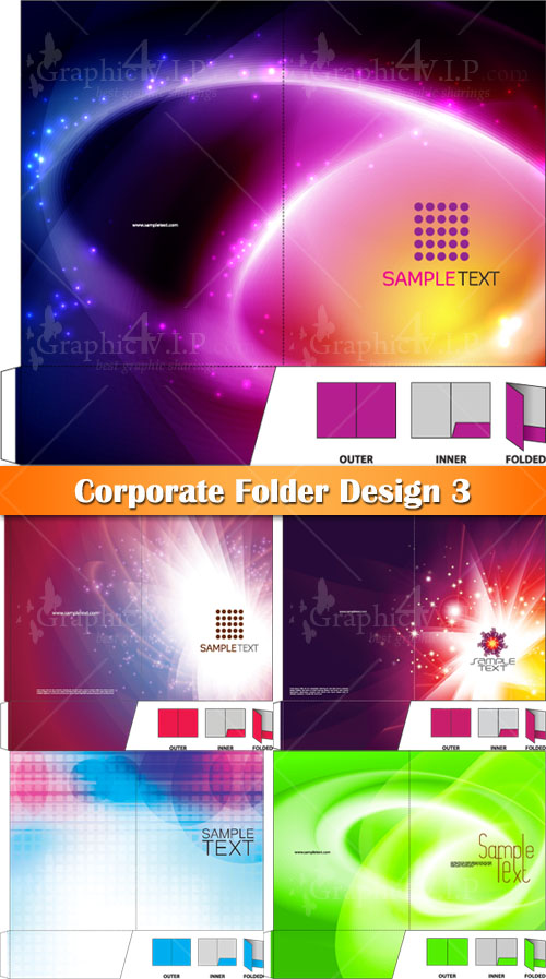 Corporate Folder Design 3 - Stock Vectors