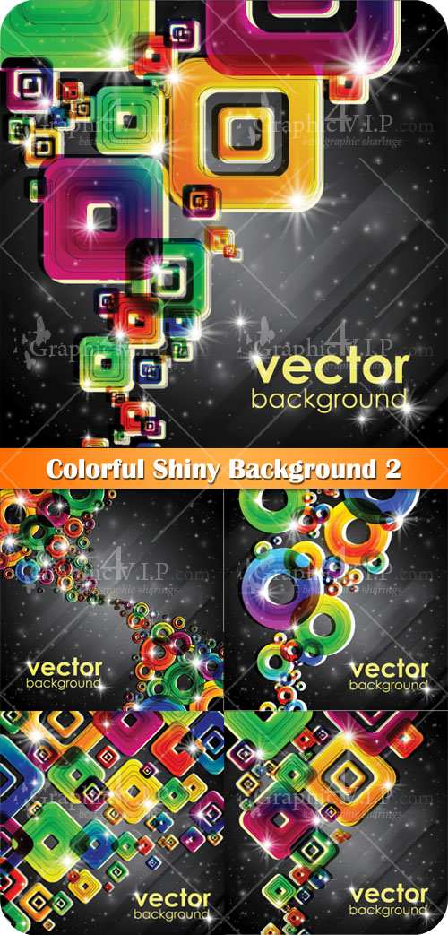 Colorful Shiny Background 2 - Stock Vectors