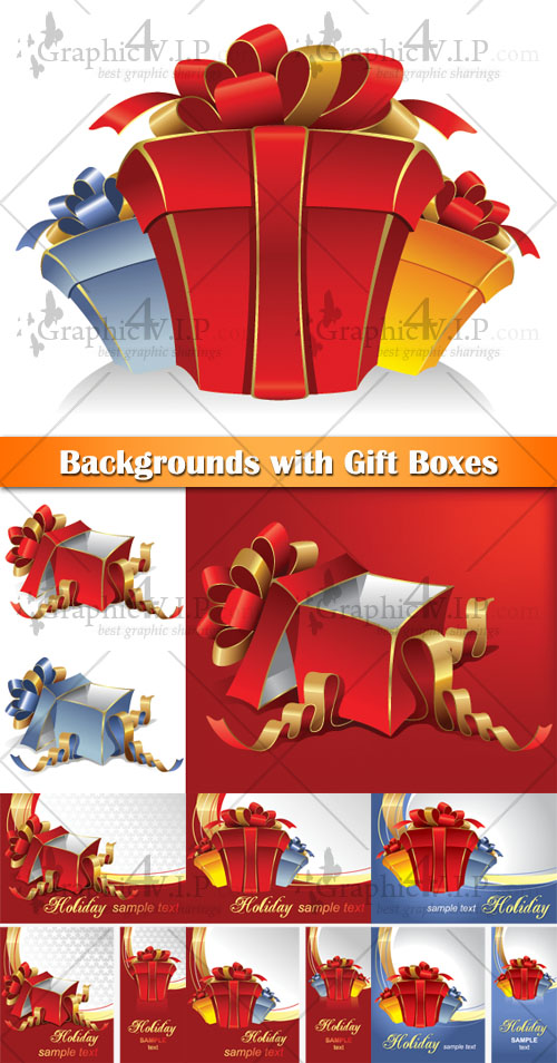 Backgrounds with Gift Boxes - Stock Vectors