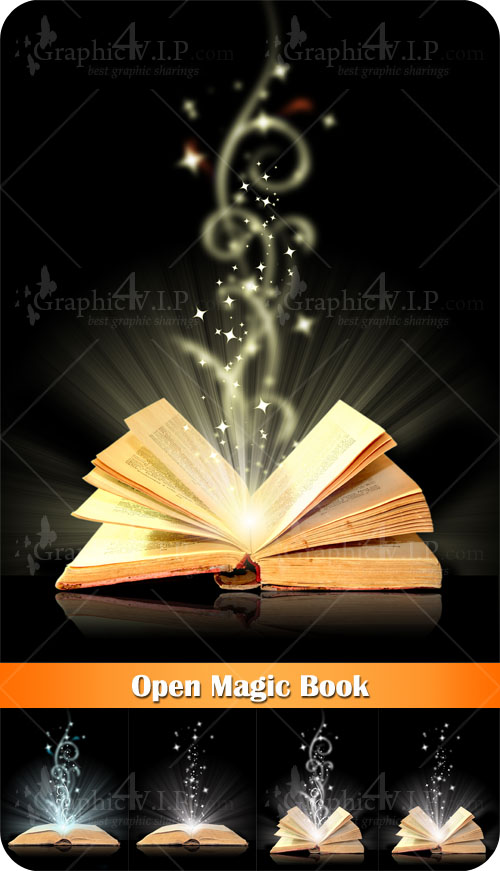 Open Magic Book - Stock Photos