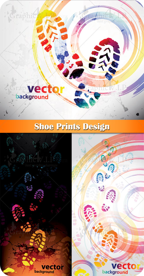 Shoe Prints Design - Stock Vectors