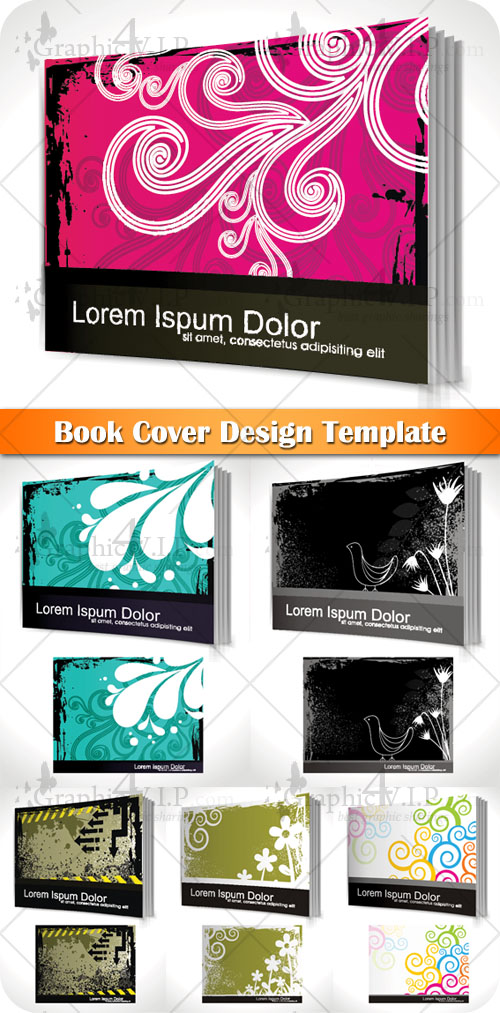 Book Cover Design Template - Stock Vectors
