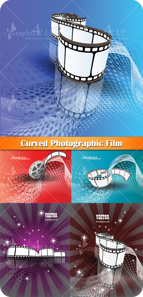 Curved Photographic Film - Stock Vectors