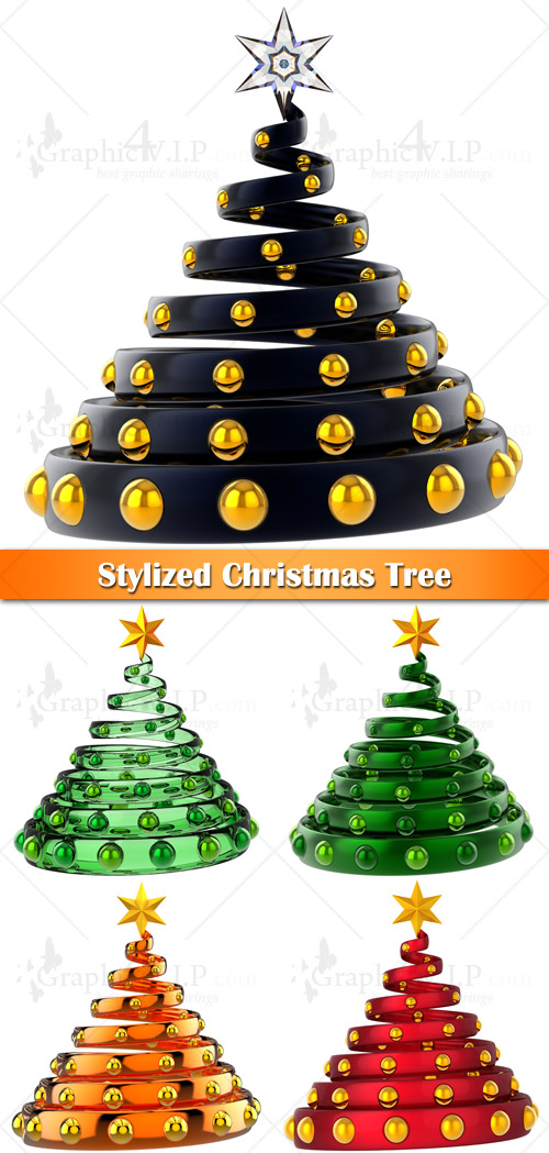 Stylized Christmas Tree - Stock Photos