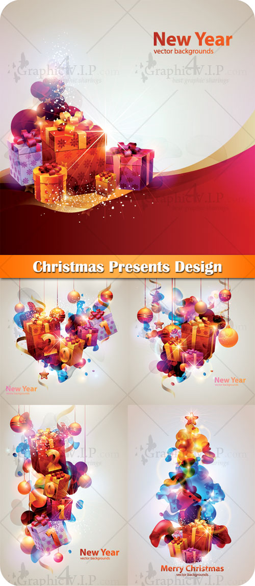 Christmas Presents Design - Stock Vectors
