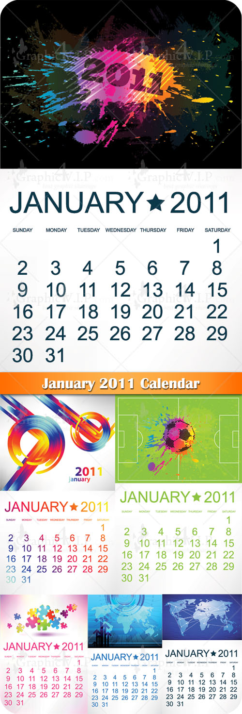 January 2011 Calendar - Stock Vectors