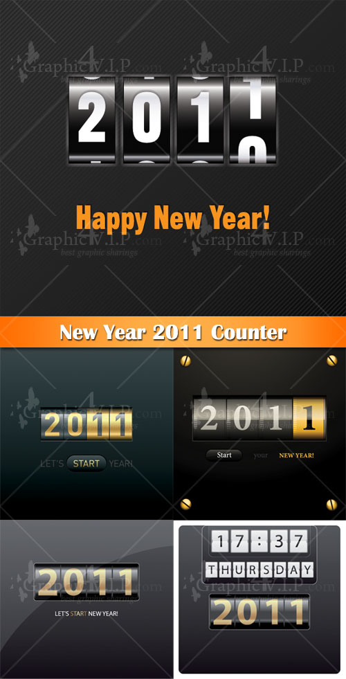 New Year 2011 Counter - Stock Vectors