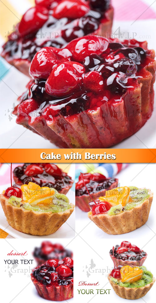 Cake with Berries - Stock Photos
