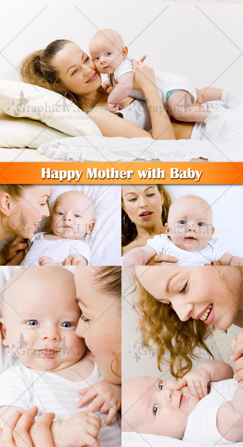 Happy Mother with Baby - Stock Photos
