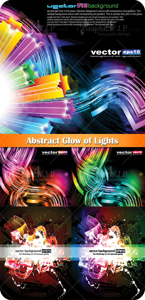 Abstract Glow of Lights - Stock Vectors