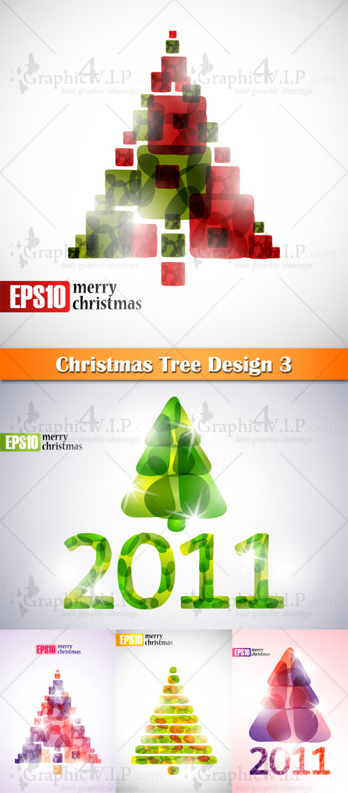Christmas Tree Design 3 - Stock Vectors