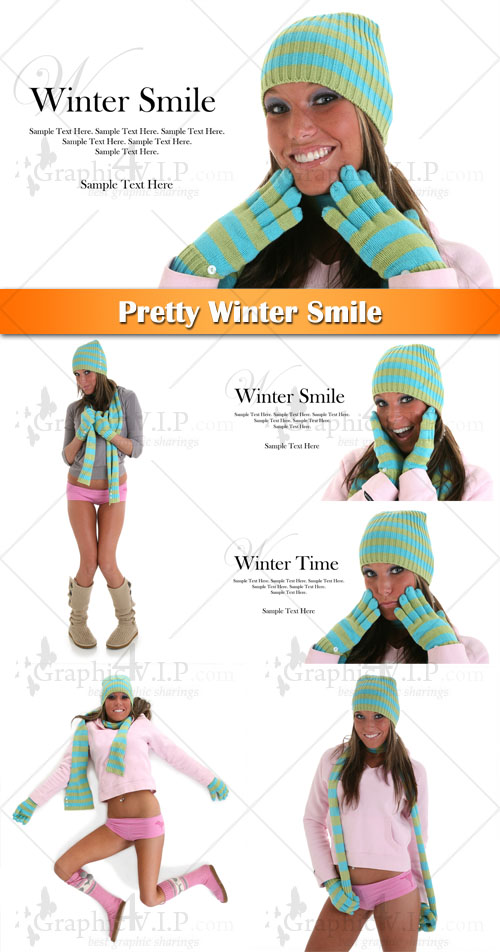 Pretty Winter Smile - Stock Photos