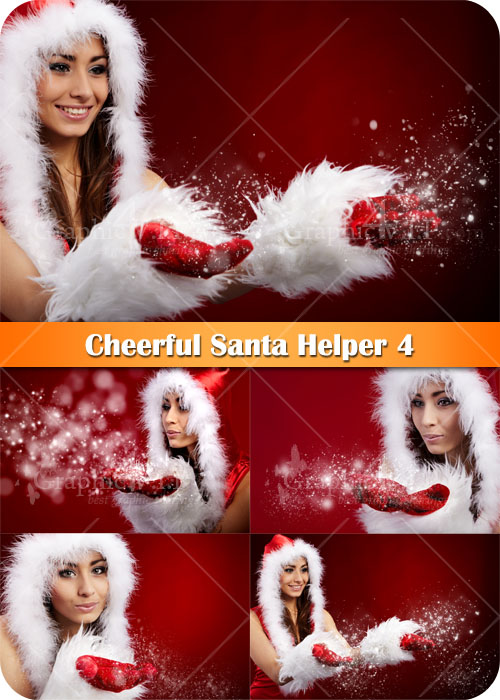 Cheerful Santa Helper 4 - Stock Photos