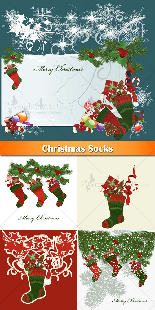 Christmas Socks - Stock Vectors