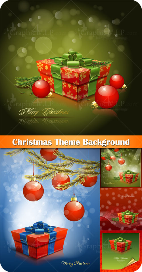 Christmas Theme Background - Stock Vectors