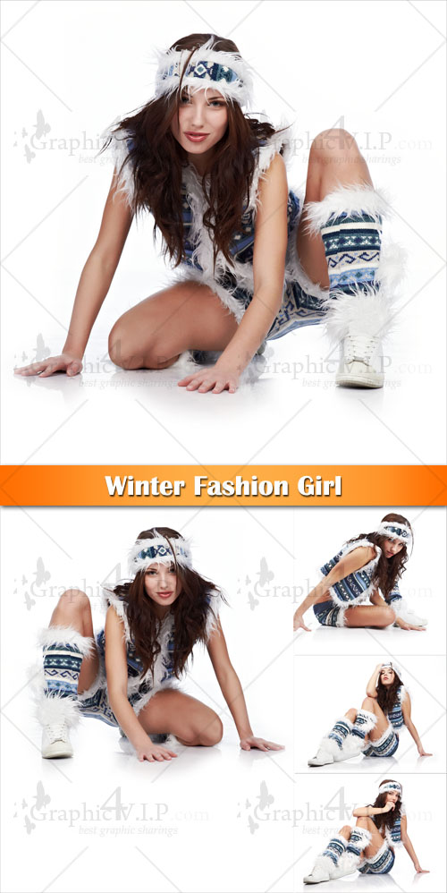 Winter Fashion Girl - Stock Photos