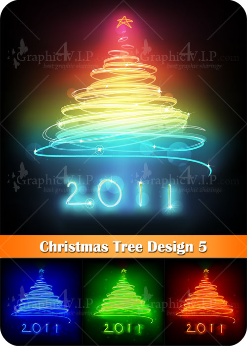 Christmas Tree Design 5 - Stock Vectors